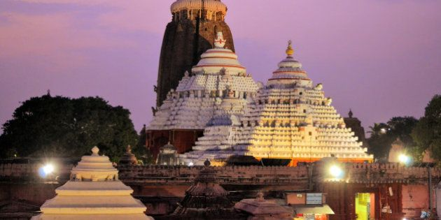 Jagannath Temple in Puri, 12th Century, Orissa, India. Jagannath temple hosts the annual procession of...