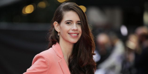 Actress Kalki Koechlin poses for photographers upon arrival at the premiere of the film Mrgarita With...