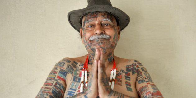***EXCLUSIVE*** NEW DELHI, INDIA - APRIL 05: Rishi, 70, poses for a photograph at his home in New Delhi,...
