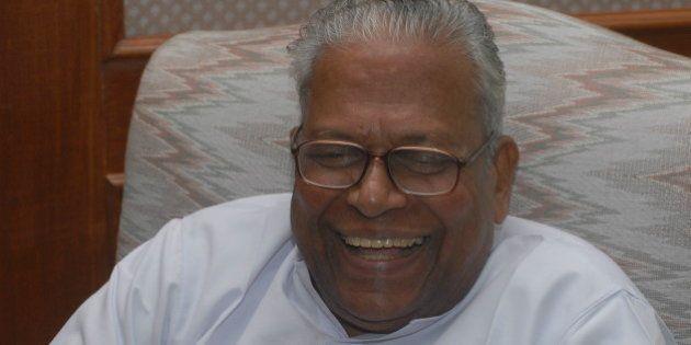 INDIA - OCTOBER 14: VS Achuthanandan, Communist Party of India (Marxist) [CPI(M)] Politburo Member and...
