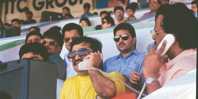 INDIA - OCTOBER 02: Dawood Ibrahim, the mafia leader in Sharjah, United Arab Emirates ( mafia don ) (Photo...