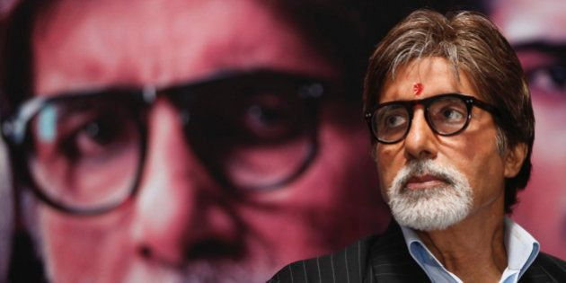 Bollywood actor Amitabh Bachchan attends a news conference to promote his forthcoming