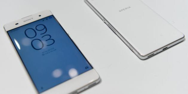 The new Sony Coporation smartphone 'Sony Xperia XA' is displayed at the Mobile World Congress in Barcelona...