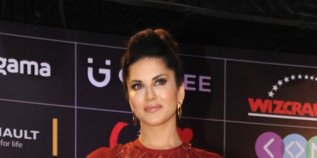 Indian Bollywood actress Sunny Leone attends the Global Indian Music Academy (GIMA) awards ceremony in...
