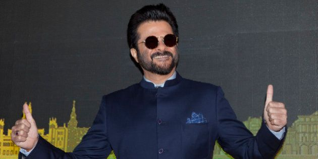 Bollywood actor Anil Kapoor poses for photographers before the press conference for the 17º Edition...
