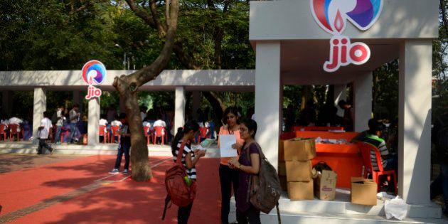 MUMBAI, INDIA - JANUARY 5: IIT Tech Fest 2015 venue powered with 4G WiFi by Reliance Jio on January 5,...