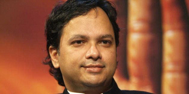 FRANKFURT/MAIN, GERMANY: Indian author Vikram Chandra discusses his work on the set of a German TV channel...