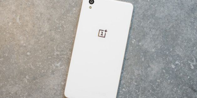The OnePlus X smartphone is arranged for a photograph in Hong Kong, China, on Monday, Dec. 7, 2015. OnePlus,...