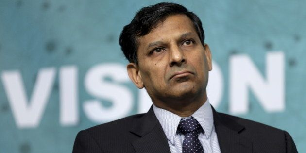 Governor of the Reserve Bank of India Raghuram Rajan speaks at a forum on financial development at the...