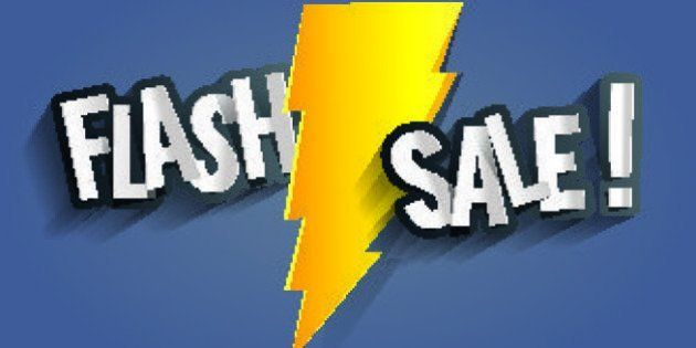 Flash Sale Design With Thunder vector