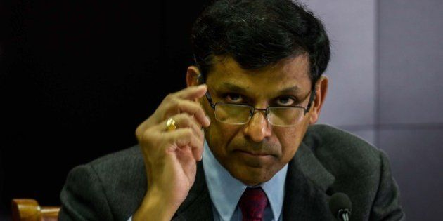 MUMBAI, INDIA - JUNE 7: Reserve Bank of India (RBI) governor Raghuram Rajan addresses a press conference...