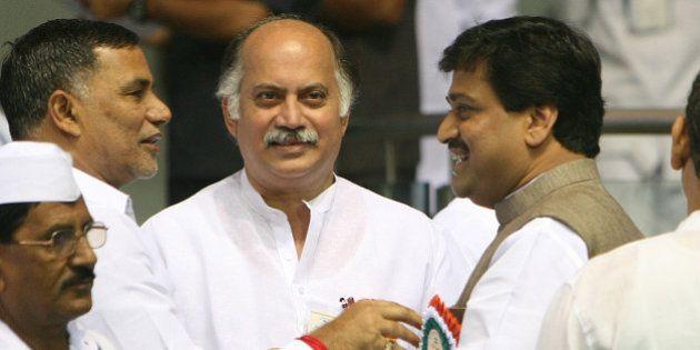 NEW DELHI, INDIA � NOVEMBER 2: Maharashtra Chief Minister Ashok Chavan and Minister of State for IT,...