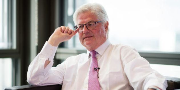 John Nelson, Chairman of Lloyd's of London, is interviewed at the group's headquarters in central London...
