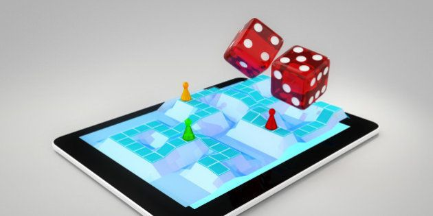 Board game on tablet