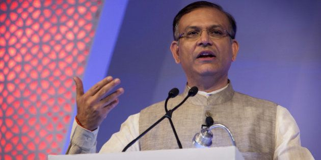 Jayant Sinha, India's junior finance minister, speaks during the Advancing Asia Conference in New Delhi,...