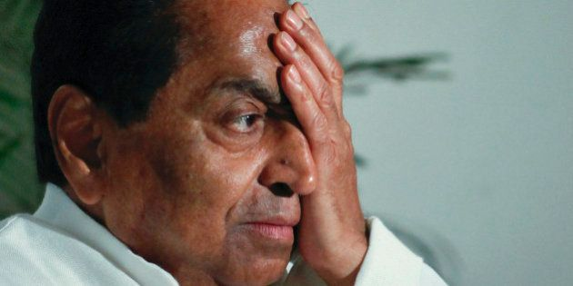 India's Urban Development Minister Kamal Nath reacts to a question during an interview with Reuters in...