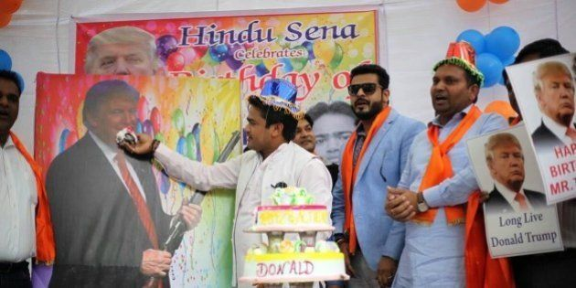 Hindu Sena Leaders Celebrating Donald Trump's Birthday May Even Leave Him A Little
