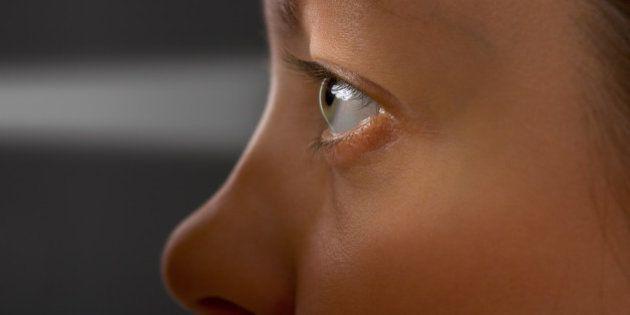 Woman eye and