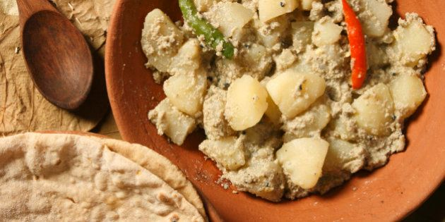 Aloo Posto is a delicious Bengali side dish generally eaten as a dry accompaniment to a meal of rice...