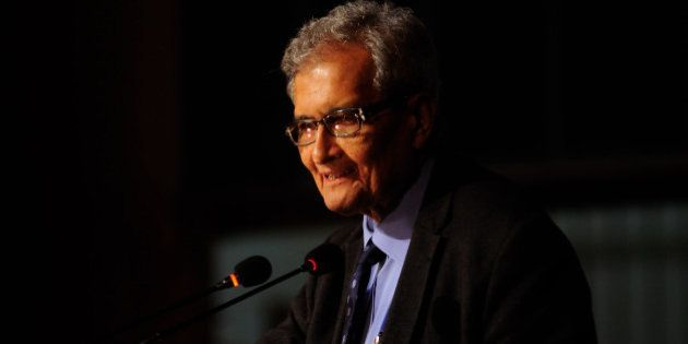 NEW DELHI, INDIA - JANUARY 4: Nobel laureate and economist professor Amartya Sen giving an inaugural...