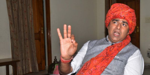MEERUT, INDIA OCTOBER 06: BJP MLA Sangeet Som during panchayat election campaigning at Ganeshpur in Meerut.(Photo...