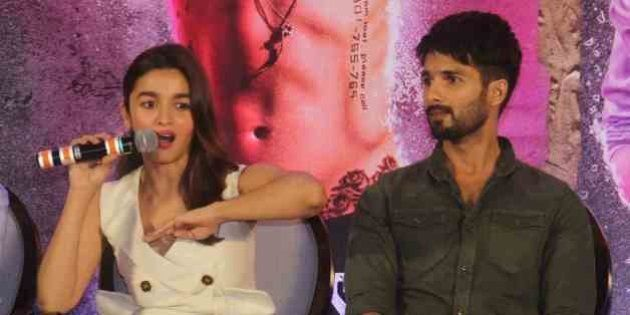 MUMBAI, INDIA - JUNE 14: Bollywood actors Alia Bhatt and Shahid Kapoor during a press conference of Udta...