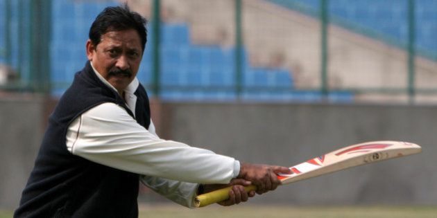 INDIA - FEBRUARY 06: Delhi cricket Team coach Chetan Chauhan during a practice session for upcoming the...
