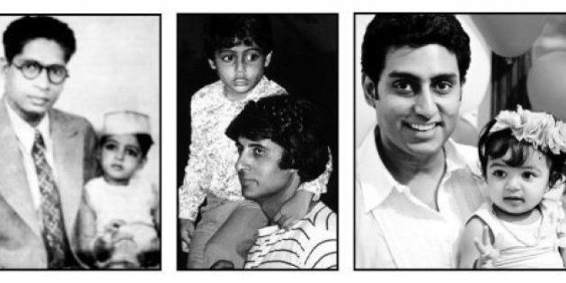 Big B Shares Photos Of Three Generations Of Bachchan Clan On Father's