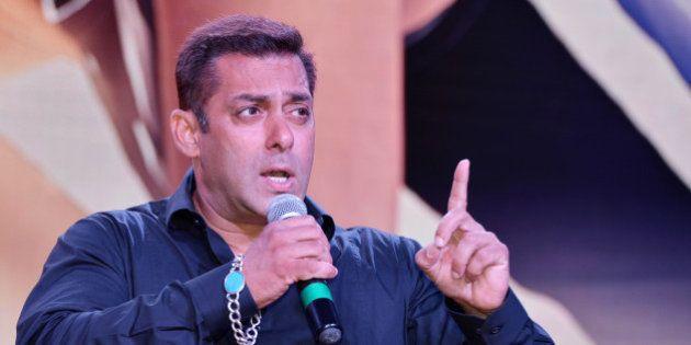 MUMBAI, INDIA MAY 24 : Salman Khan at the theatrical trailer launch of his upcoming movie Sultan at Film...