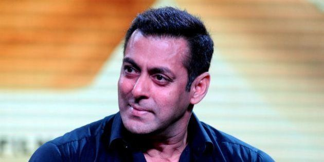 Indian Bollywood actor Salman Khan looks on during a promotional event for the forthcoming Hindi film...