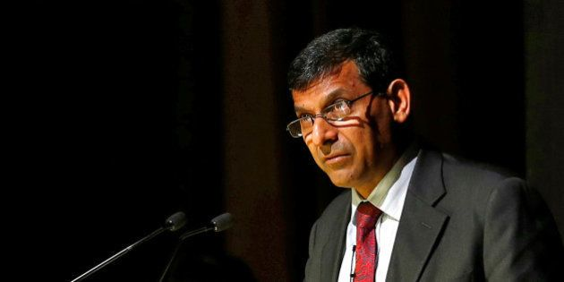 Reserve Bank of India (RBI) Governor Raghuram Rajan delivers a lecture at Tata Institute of Fundamental...