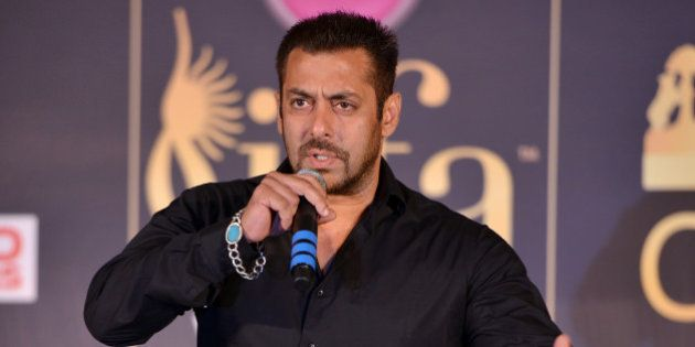MUMBAI, INDIA MAY 20: Salman Khan during the press conference of 16th International Indian Film Academy...
