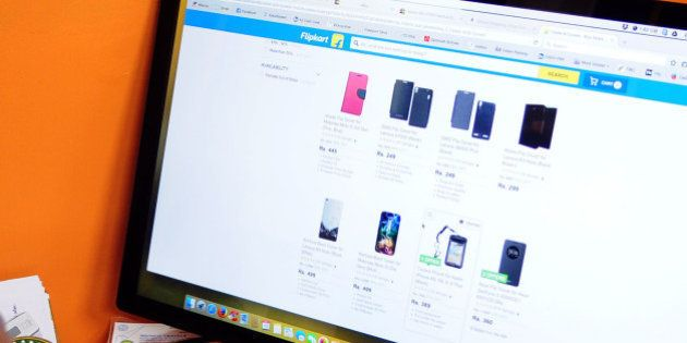 KOLKATA, INDIA SEPTEMBER 15: A customer accessing on e-commerce company Flipkart's website on September...