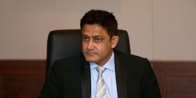 DUBAI, UNITED ARAB EMIRATES - APRIL 22: DUBAI, UNITED ARAB EMIRATES: Anil Kumble, ICC Cricket Committee...
