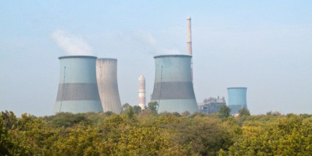 A Power Plant With Cooling Tanks From Gujarat,