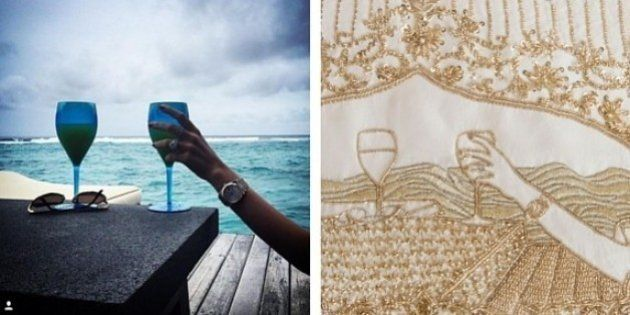 This Indian Bride Stitched Her Love Story On Her Bridal