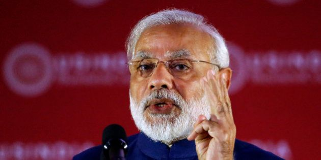 Indian Prime Minister Narendra Modi speaks during the U.S.-India Business Council 41st Annual Leadership...