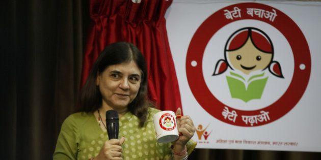 NEW DELHI, INDIA - SEPTEMBER 17: Union Minister for Women and Child Development, Maneka Sanjay Gandhi...