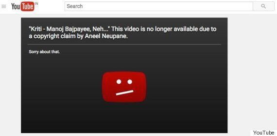 Shirish Kunder's 'Kriti' Pulled Down By YouTube After Nepalese Filmmaker's Copyright
