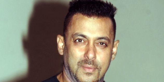 Indian Bollywood actor Salman Khan poses during the promotion of the upcoming Hindi film 'Sultan' in...
