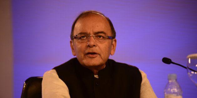 NEW DELHI, INDIA - NOVEMBER 21: Arun Jaitley Finance Minister of India speakingat HT leadership Summit...