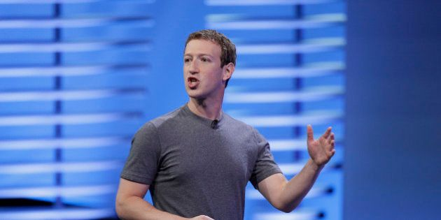 FILE - In this Tuesday, April 12, 2016, file photo, Facebook CEO Mark Zuckerberg delivers the keynote...