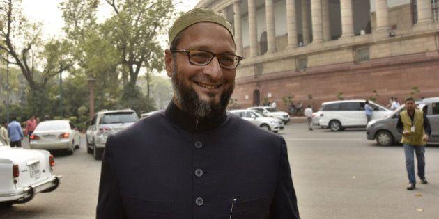 NEW DELHI, INDIA - MARCH 1: All India Majlis-E-Ittehadul Muslimeen MP Asaduddin Owaisi at Parliament...