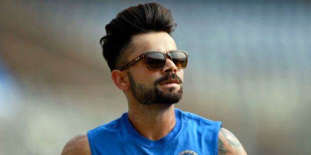 MUMBAI, INDIA - OCTOBER 24: Indian player Virat Kohli in action during the practice session at Wankhede...
