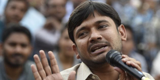 NEW DELHI, INDIA - MARCH 4: JNUSU President Kanhaiya Kumar during the press conference at JNU campus...