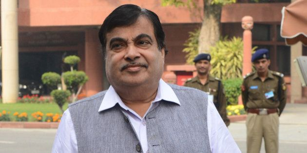 NEW DELHI, INDIA NOVEMBER 27: Road and Highways Minister Nitin Gadkari at the Winter Session of Parliament...
