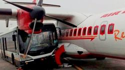 Jet Airways Passenger Coach Rams Into Parked Air India Plane At Kolkata