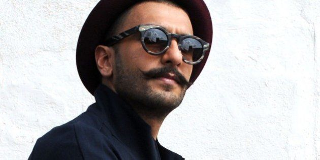 Indian Bollywood actor Ranveer Singh poses during a promotional event of the forthcoming Hindi film Dil...