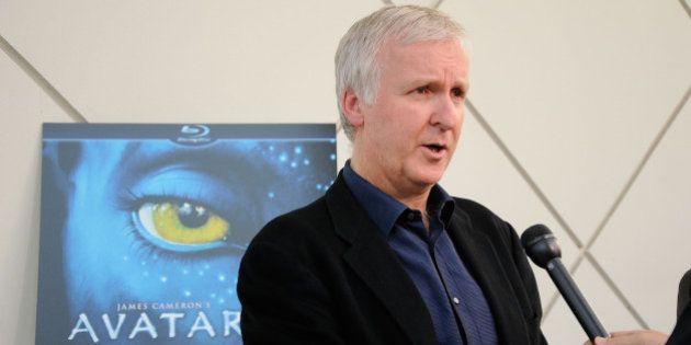 PASADENA, CA - APRIL 27: Director James Cameron gets interviewed on the blue carpet at 'Is Pandora Possible?',...
