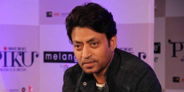 MUMBAI, INDIA - APRIL 28: Bollywood actor Irrfan Khan during the showcase of Melange by Lifestyle's Piku...